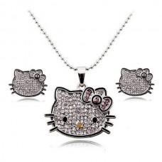 Hello Kitty kristály ékszer szett